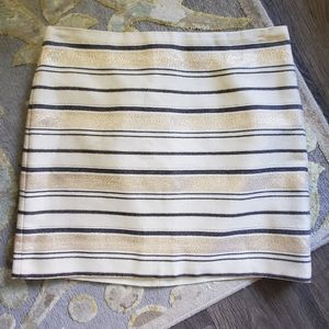 J. Crew Gold Striped Skirt